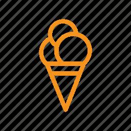 cream, dessert, ice, summer, sweet, treat icon