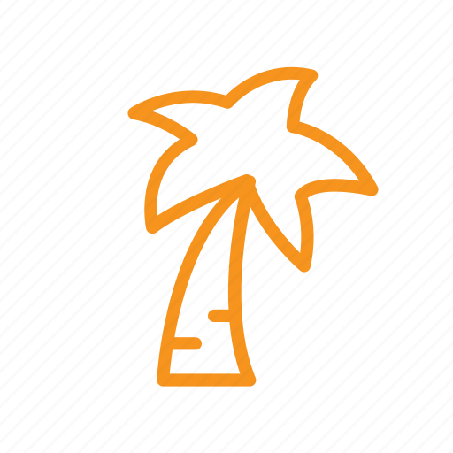 beach, palm, summer, tree, tropical, vacation icon