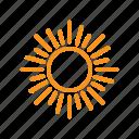 bright, hot, light, shining, summer, sun