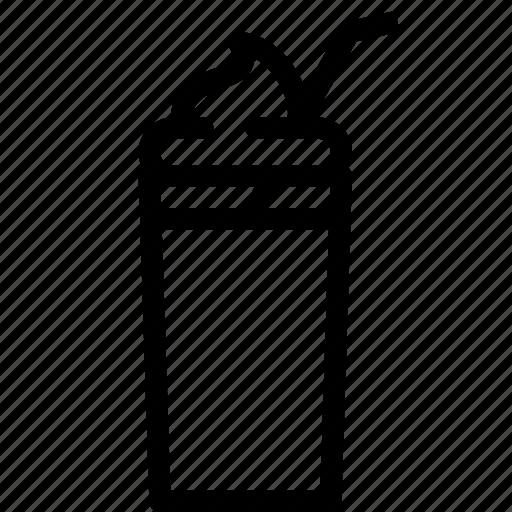 beverage, cold drink, drink, glass, milkshake, summer food icon