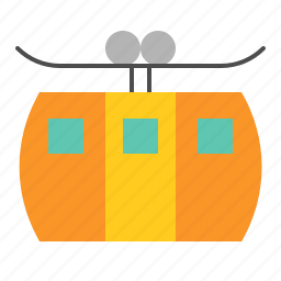 cable, cable car, summer, transportation, vacation icon