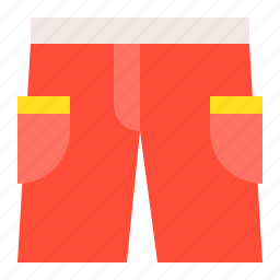 red shorts, shorts, summer, vacation icon