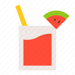 beverage, drinks, juice, summer, vacation, watermelon, watermelon juice icon