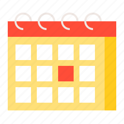 appointment, calendar, date, summer, vacation icon