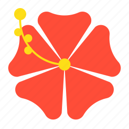 flora, floral, flower, hibiscus, summer, vacation icon