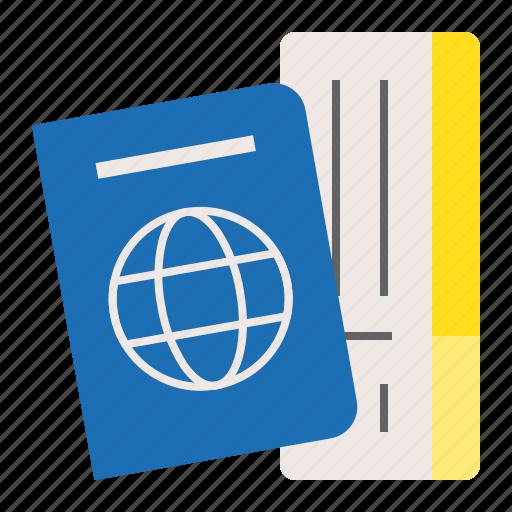 card, identification, passport, summer, vacation icon