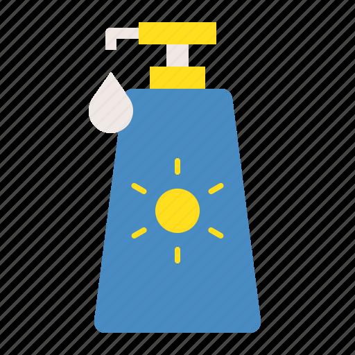 summer, sun cream, sun protection, sunscreen, vacation icon