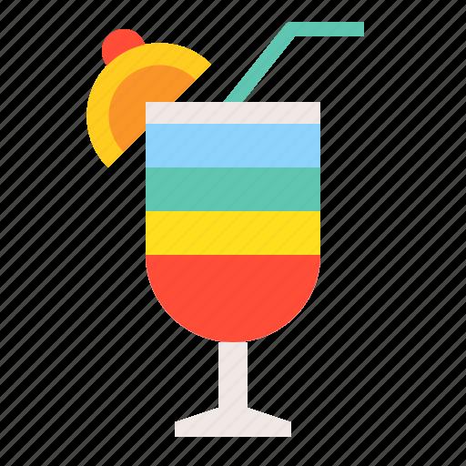 beverage, drinks, juice, rainbow drink, summer, vacation icon