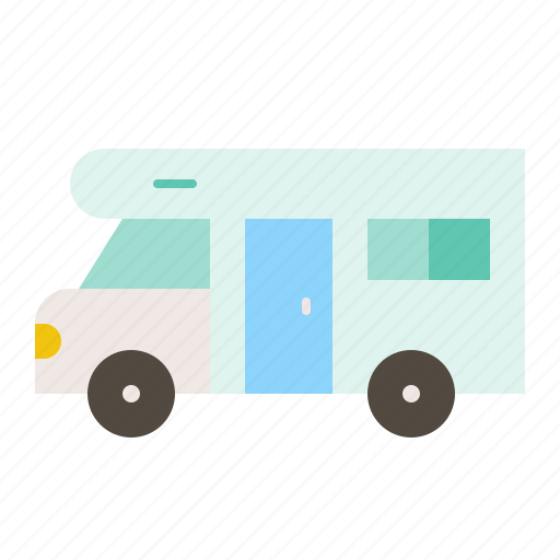 camping, camping car, car, summer, transportation, vacation, vehicle icon