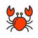 cancer, crab, exotic, holiday, sea, vacation icon