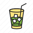 cocktail, cocktail glass, holiday, leisure, vacation icon