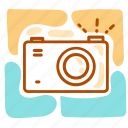 camera, holiday, shutter, summer, vacation icon