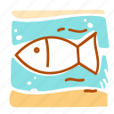 fish, sea, summer, vacation icon