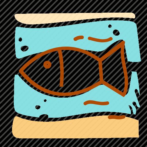 fish, sea, summer, vacation icon
