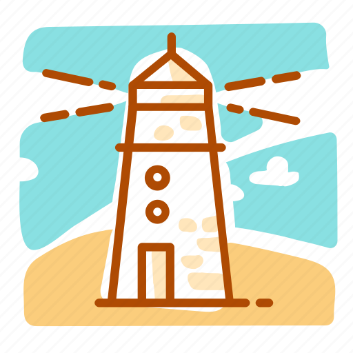 mercusuar, summer, vacation icon