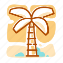 palm, summer, tree, vacation icon