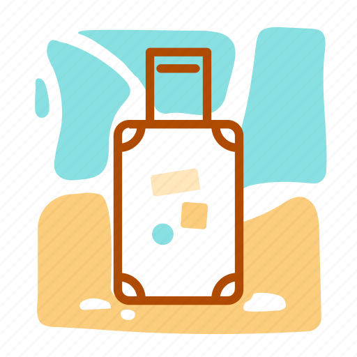 backpack, suitcase, summer, vacation icon