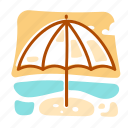 summer, umbrella, vacation icon