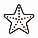 beach, ocean, sea, star, starfish icon