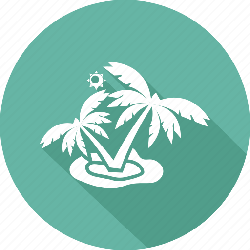 holiday, palm, seaside, vacation icon