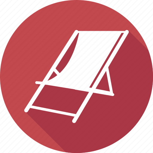 chaise, journey, lounge, relaxation, summer icon