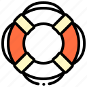 buoy, life, ring, save icon