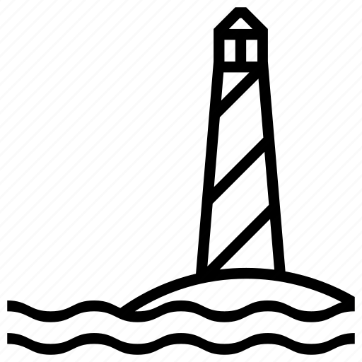 direction, help, holiday, light, lighthouse, navigation, safe, safety, sea, seaside, summer, support, travel, vacation, water, waves icon