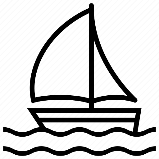 boat, fish, holiday, marine, nautical, ocean, sail, sea, ship, sport, sports, summer, transport, transportation, travel, vacation, water, waves, yacht icon