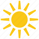 sun, sunlight, sunny day, sunrays, sunshine icon