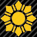 bright sun, flower sun, solar sun, sun, sun rays