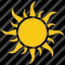 bright sun, cartoon sun, solar sun, sun rays, sun shape