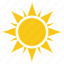 bright sun, solar sun, sun, sun design, sun rays icon