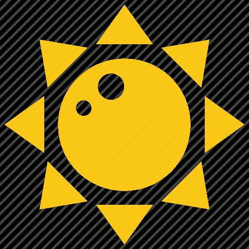 bright sun, solar sun, sun, sun rays, sun shape icon