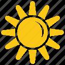 flower sun, sun, sun rays, sunshape, sunshine icon