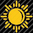 bright sun, glaring sun, solar sun, sun, sun rays icon