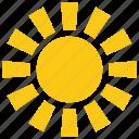 round sun, solar sun, sun, sun design, sun rays icon