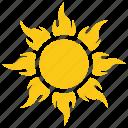 solar sun, sun radiation, sunflame, sunrays, sunshine icon