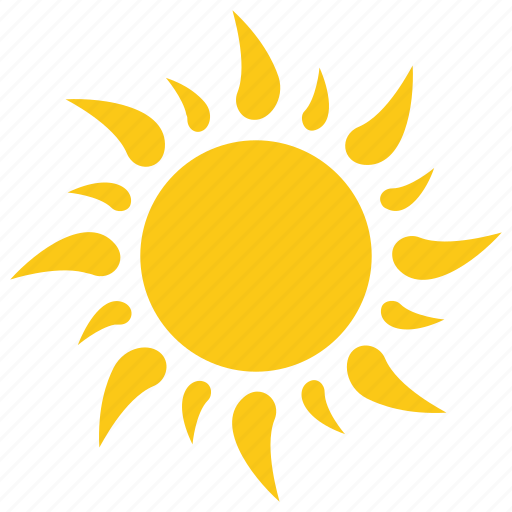Burning sun, hot sun, solar sun, summer sun, sun icon