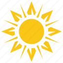 floral sun, sun, sun ornament, sun pattern, sunshine icon