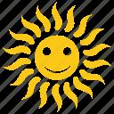good morning, happy sun, solar sun, sun cartoon, sunny morning icon