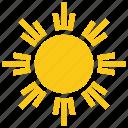 bright sun, solar sun, sun, sun rays, sun symbol, sunflag pattern icon