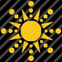 floral sun, sun, sun ornament, sun pattern, sunshine
