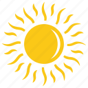 bright sun, sun, sun rays, sunburst solar sun icon