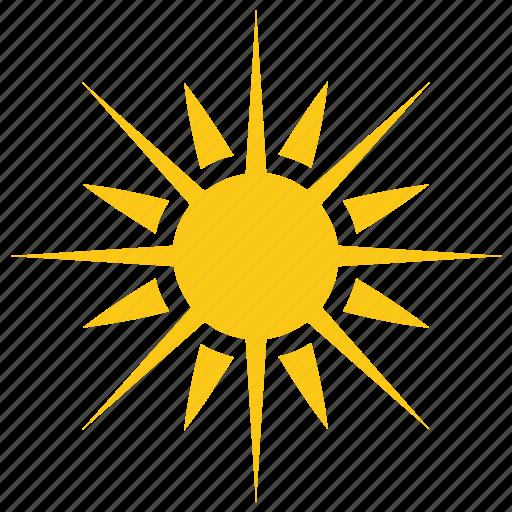 bright sun, solar sun, sun, sun rays, sunshine icon