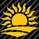 solar sun, sunny day, sunrise, sunrise concept, sunset icon