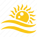 beach sun, ocean sun, picnic concept, solar sun, sun