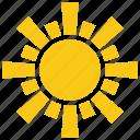 retro sunburst, sunshine, sun shape, sun rays, sun design icon