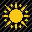 bright sun, solar sun, sun, sun rays, sunburst icon