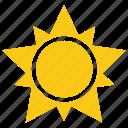 cartoon sun, comic sun, solar sun, star sun, sun design