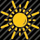 bright sun, solar sun, sun, sunshine, twinkling sunrays icon